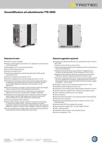 Deumidificatore ad adsorbimento TTR 2800