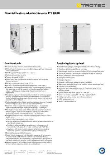 Deumidificatore ad adsorbimento TTR 8200