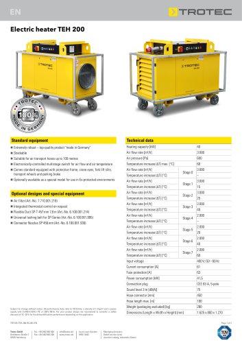 Electric heater TEH 200