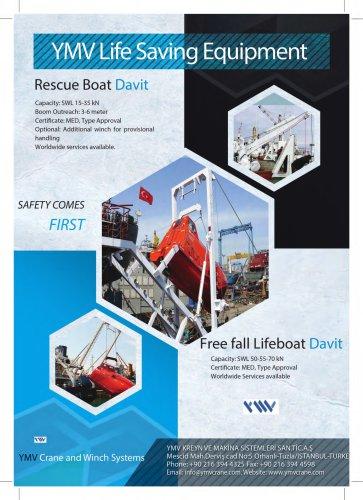 YMV Freefall Lifeboat Davit Brochure