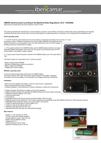 GMDSS PANEL VHF 15A