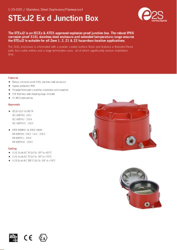 STExJ2 Ex d Junction Box