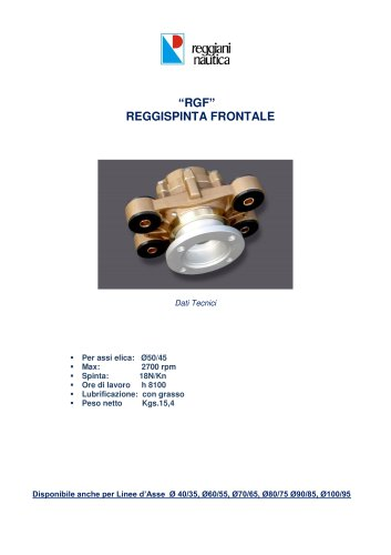 RGF GRUPPO REGGISPINTA FRONTALE